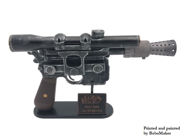 Han Solo Blaster DL-44 by PortedtoReality - Thingiverse