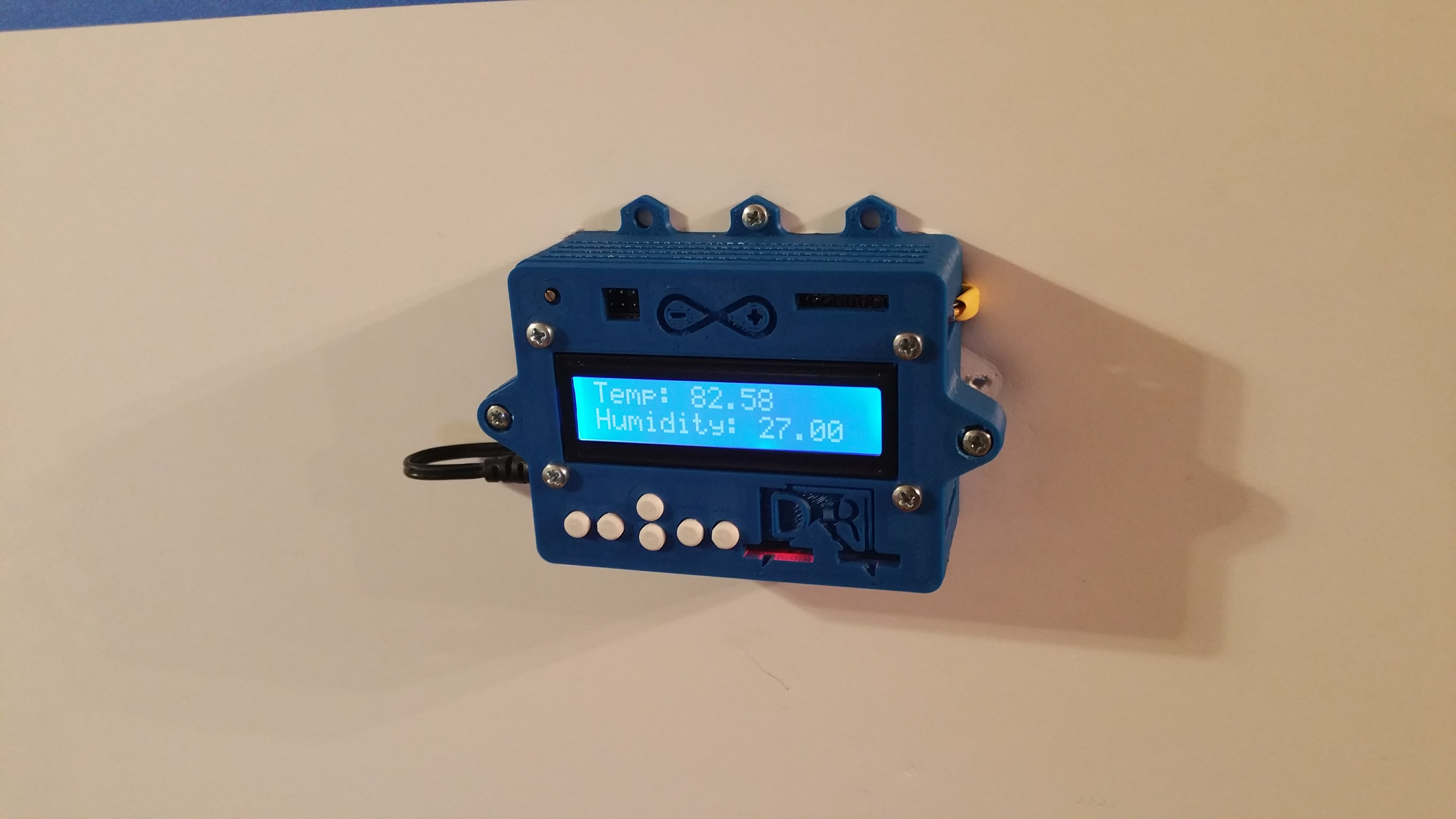 Arduino Uno and LCD keypad enclosure with buttons  by DRPrinting3D
