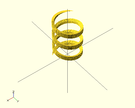openscad screw threads with linear_extrude by speedymollusc