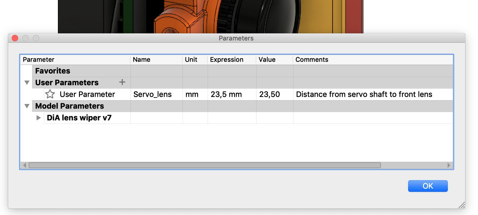 Length parameter