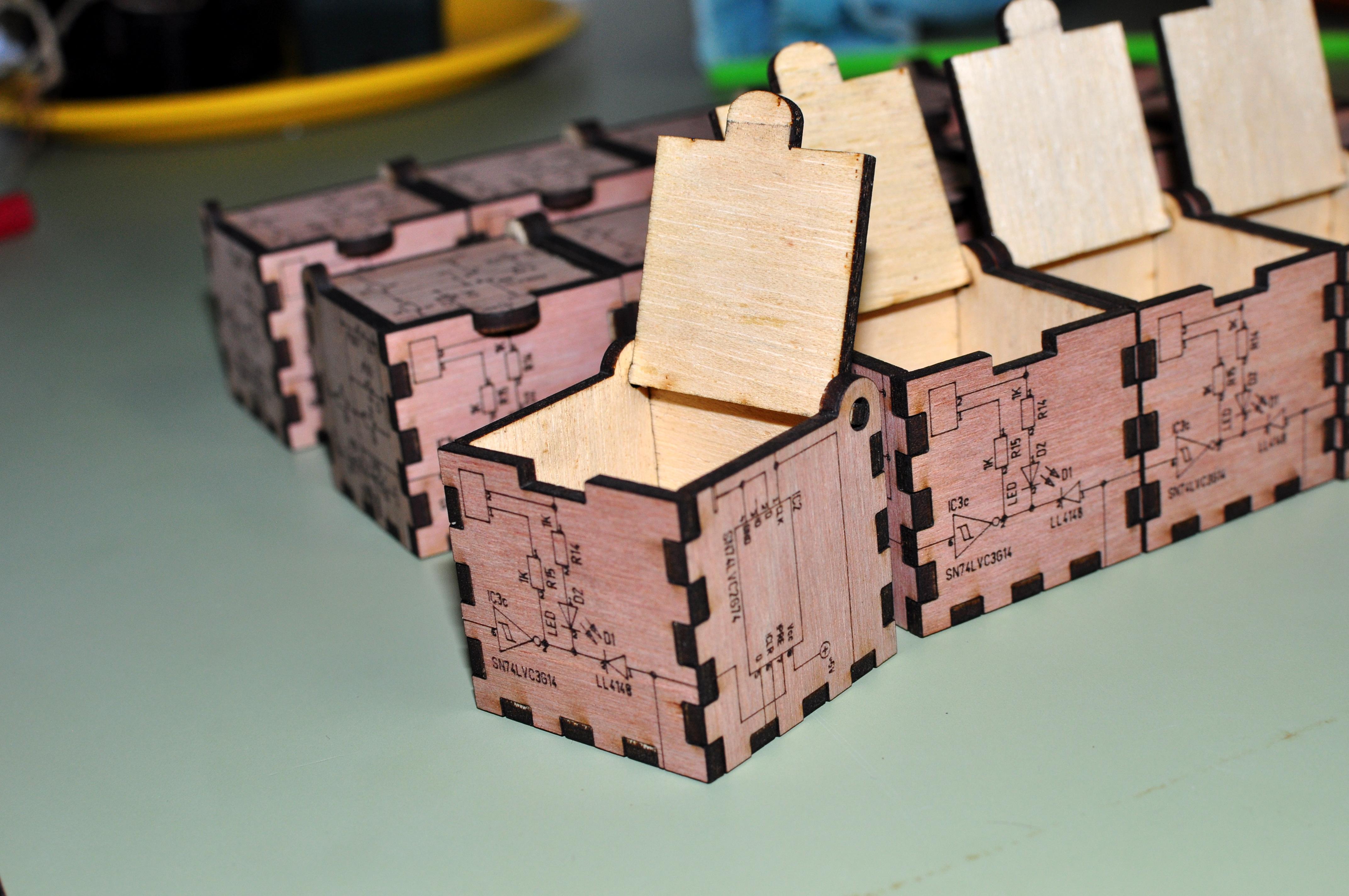 Laser Cut Wood Box With Schematic Diagram Design By Easybotics Dec 21 2017 View Original