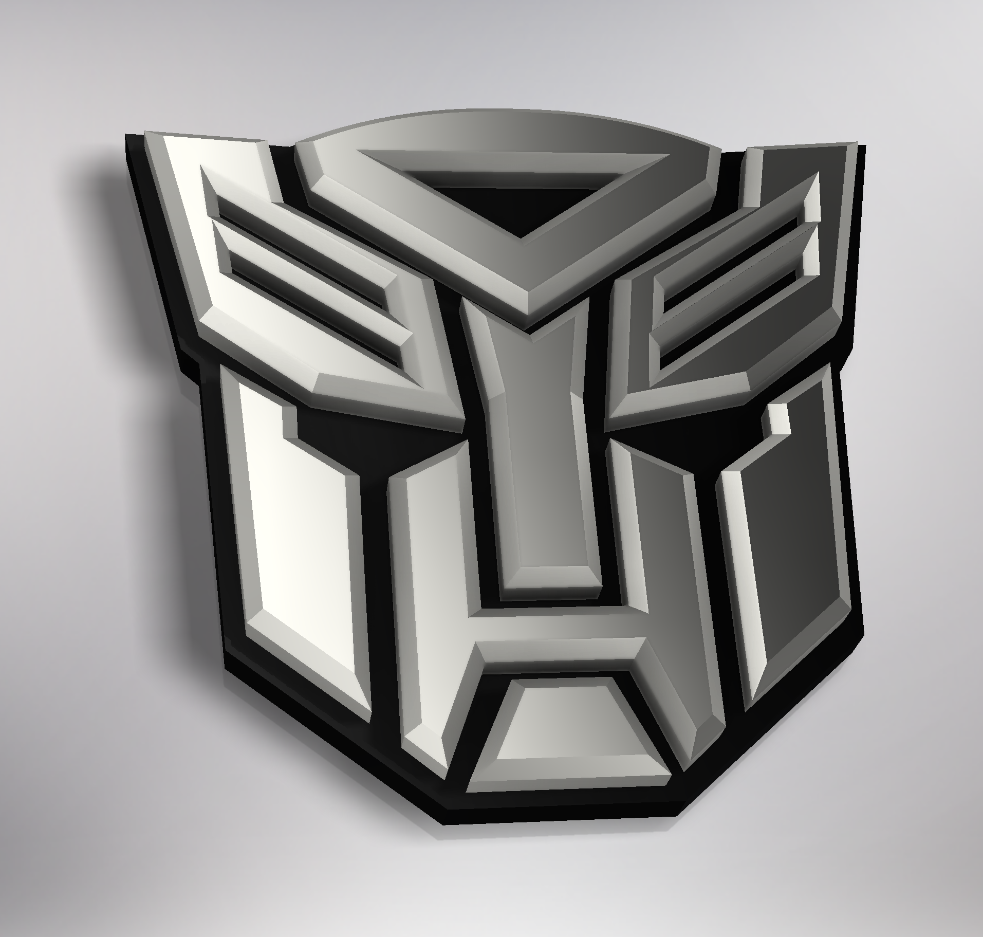 Transformers Autobot Logo By Mrsnowie Thingiverse