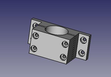 Parametric Pipe Clamp - FreeCAD by jpstaub - Thingiverse