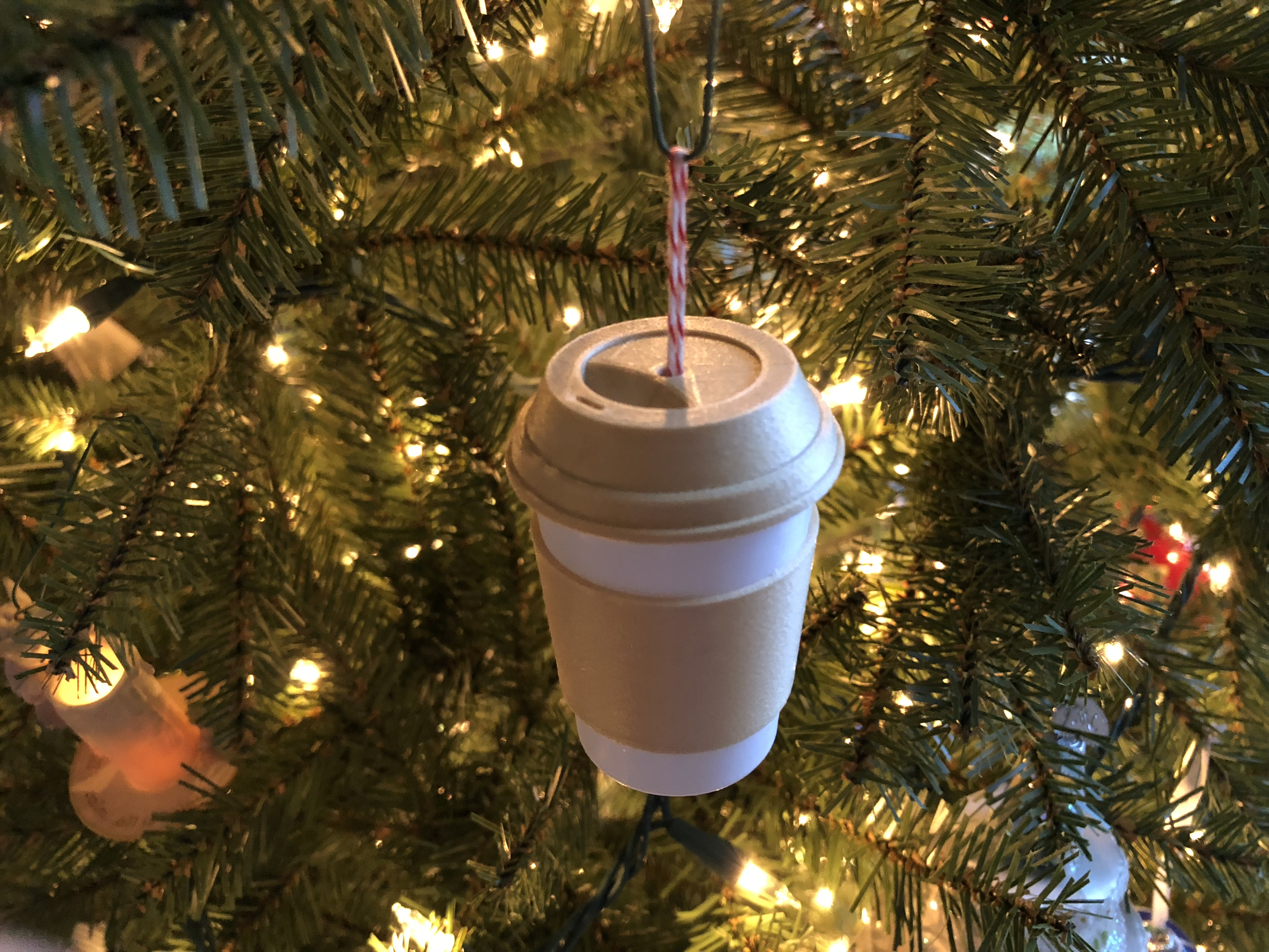 Coffee Christmas Ornaments.Coffee Cup Christmas Ornament By Bpmarkowitz Thingiverse