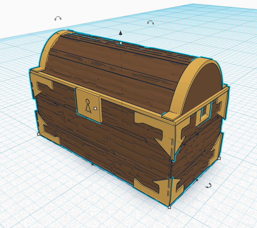 ULTIMA ONLINE - UO inspired wood chest 28mm D&D PATHFINDER