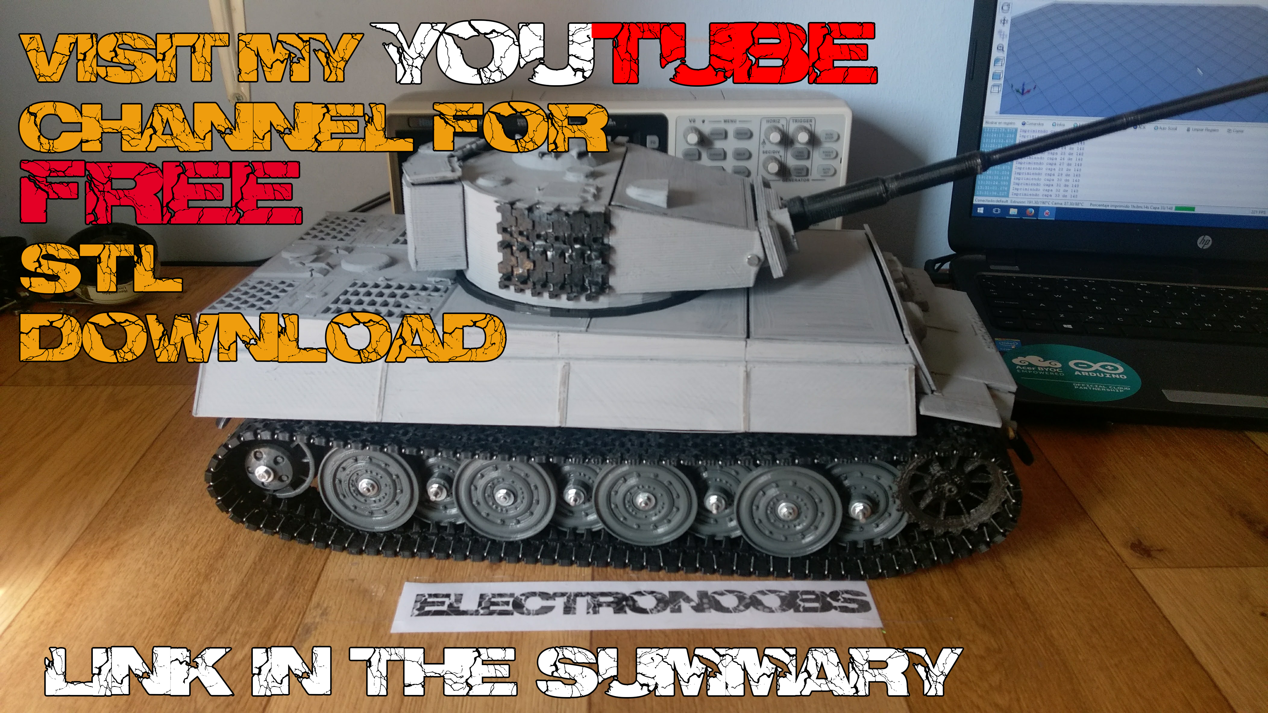 Tiger 1 3D printed tank by ELECTRONOOBS - Thingiverse