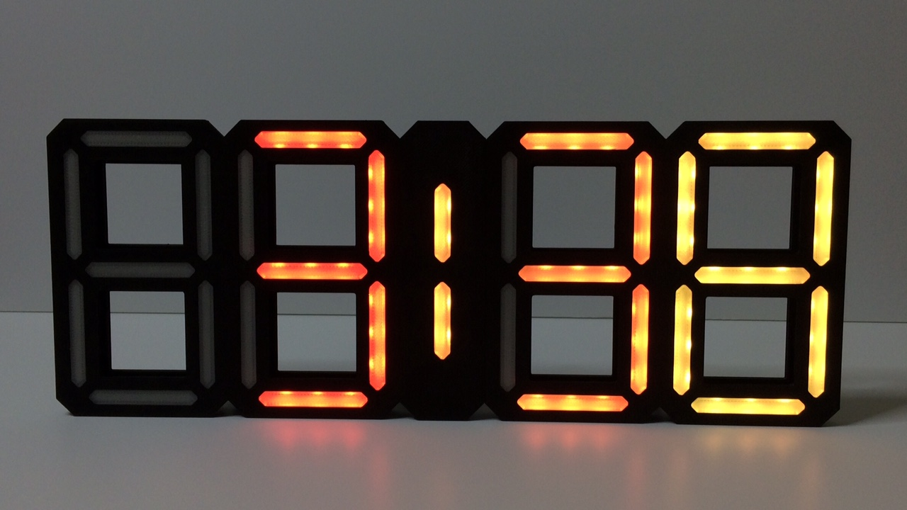 Retro 7 Segment Clock Complete By Parallyze Thingiverse The Each Led Symbol Into 7segment Display It May Look Like This Jul 22 2018 View Original