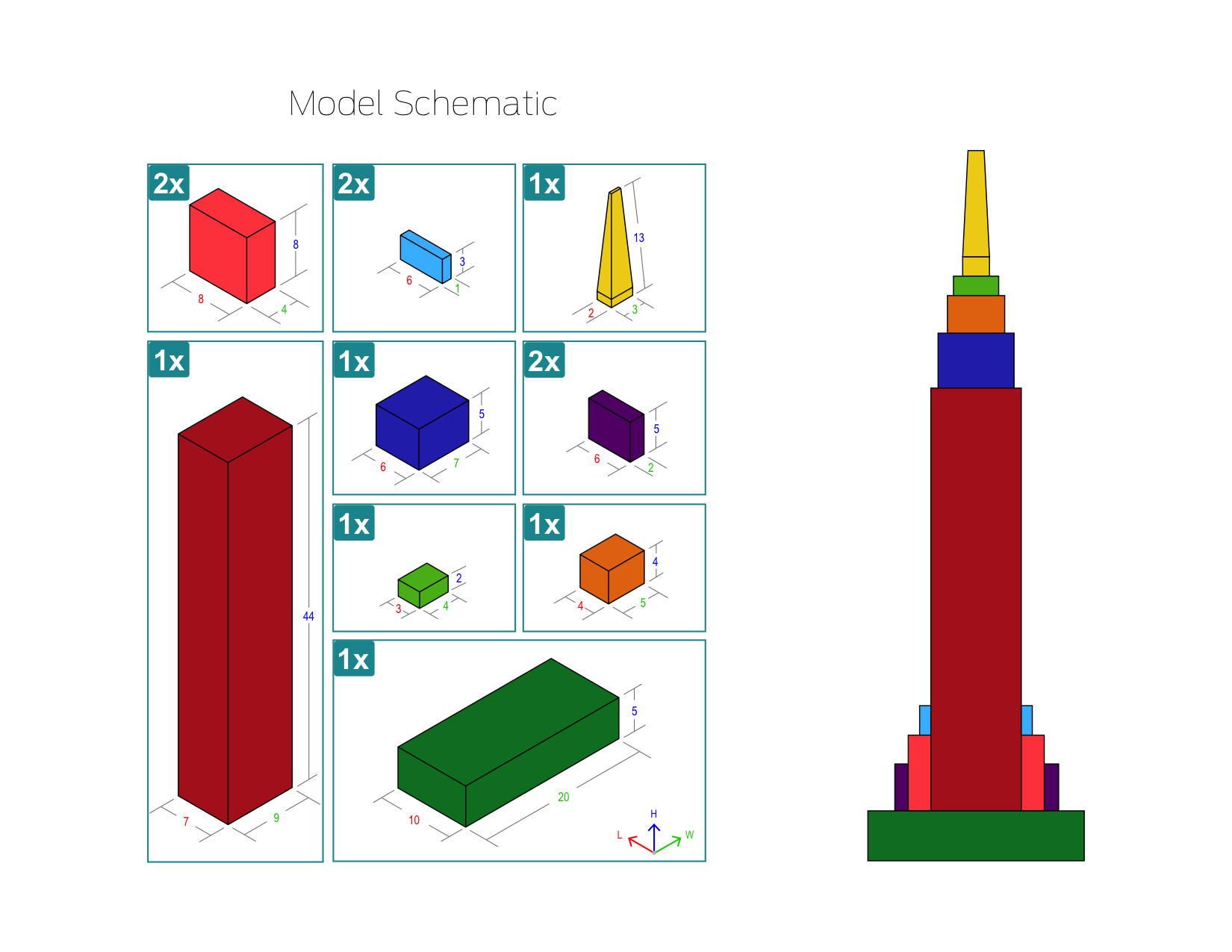 Empire state building makered project by for 3d building creator