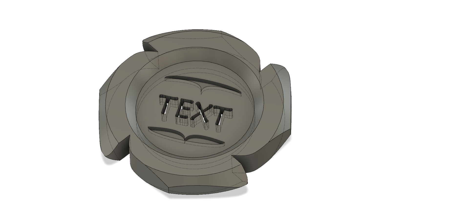 Maker Coin Customizable Fusion 360 Customisable Editable by