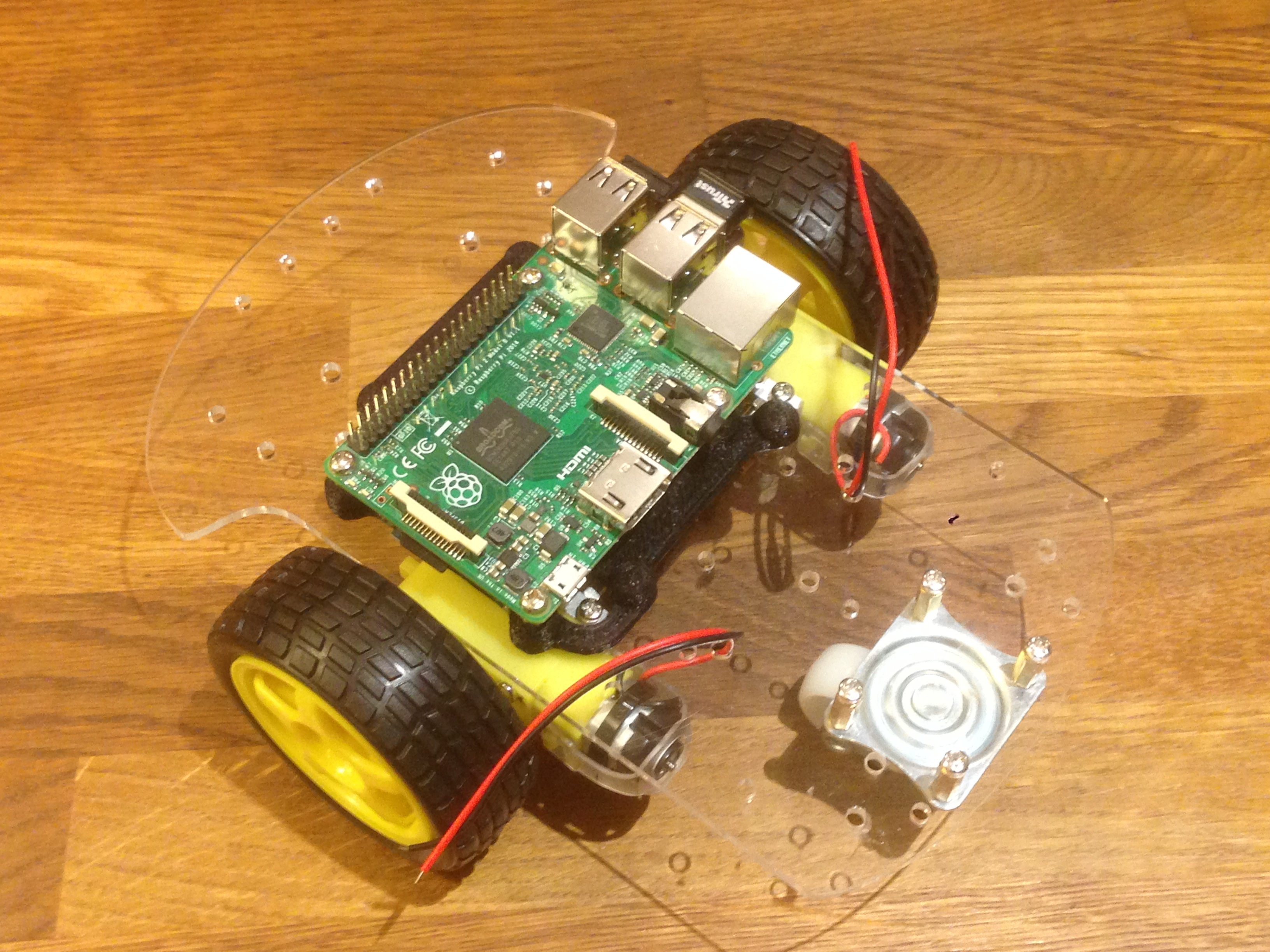Raspberry Pi 2 mount for 2 wheel robot chassis by stuartm - Thingiverse