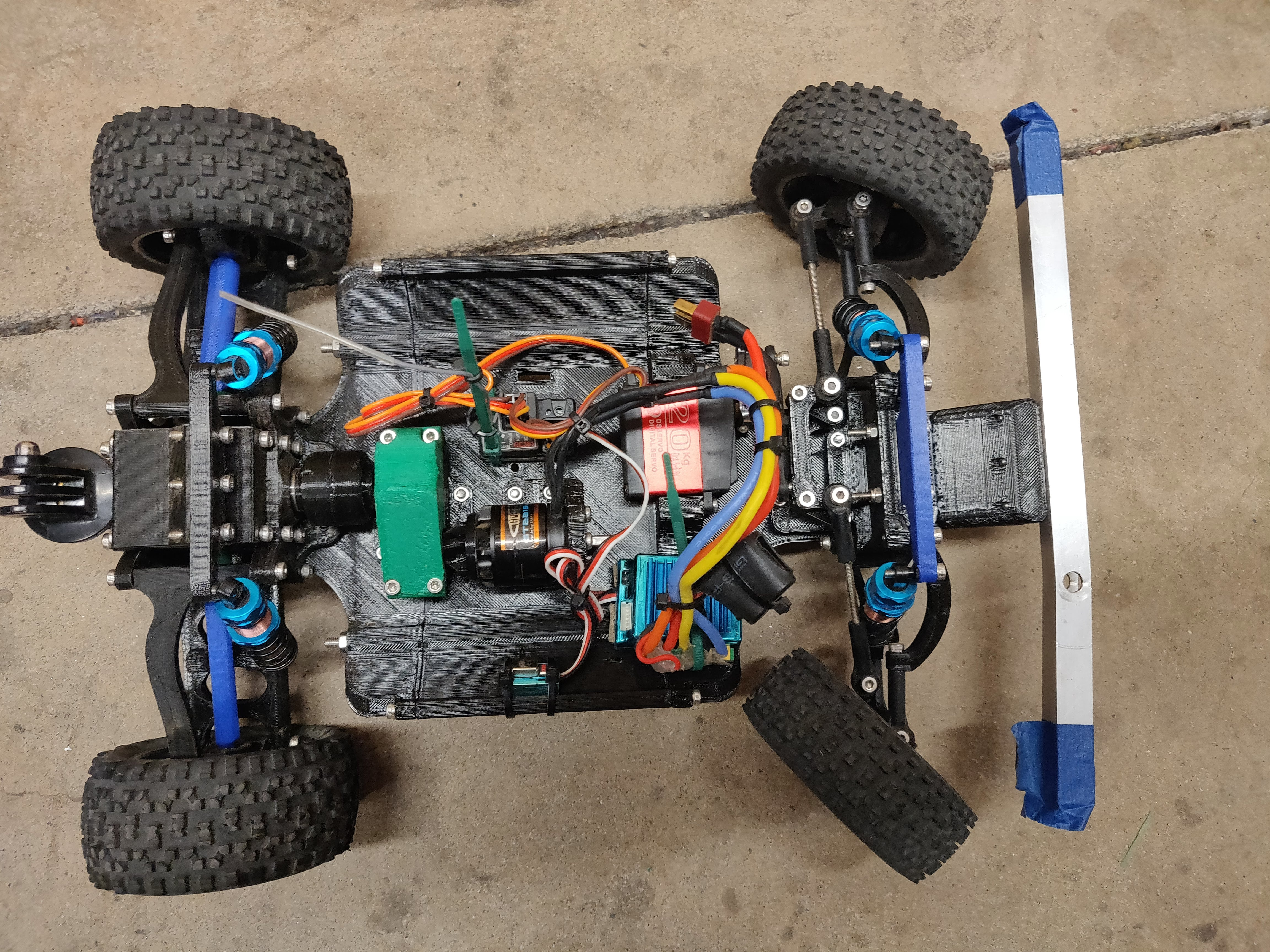 3D printed RC Car V2 (Rear Assembly) [3 of 3] by KrisCubed - Thingiverse