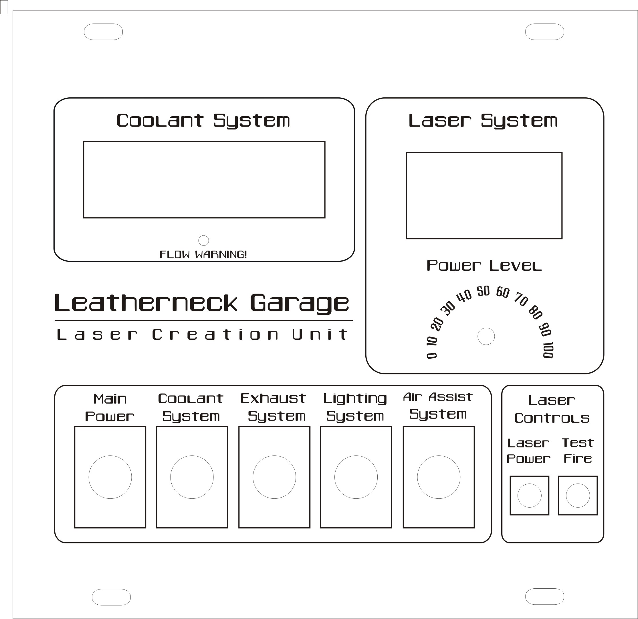 UPDATED* K40 Laser Cutter Control Panel Faceplate by