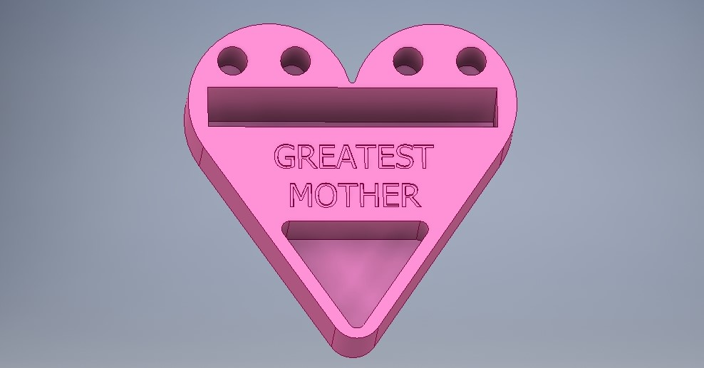 Mother\'s Day Heart-Shaped Business Card/Phone Holder by kuriger9 ...