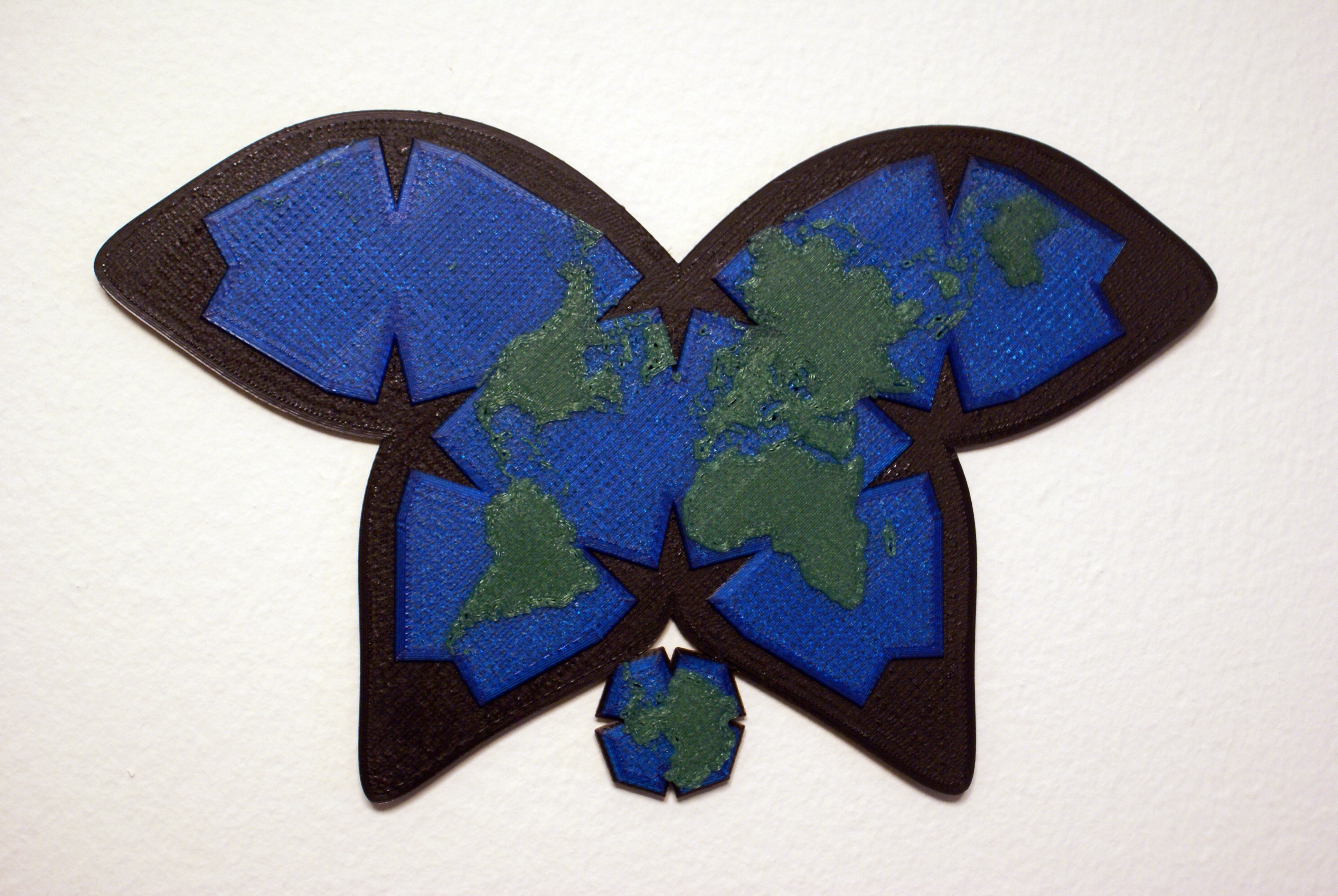 Waterman Butterfly World Map Projection By Weeksb Thingiverse