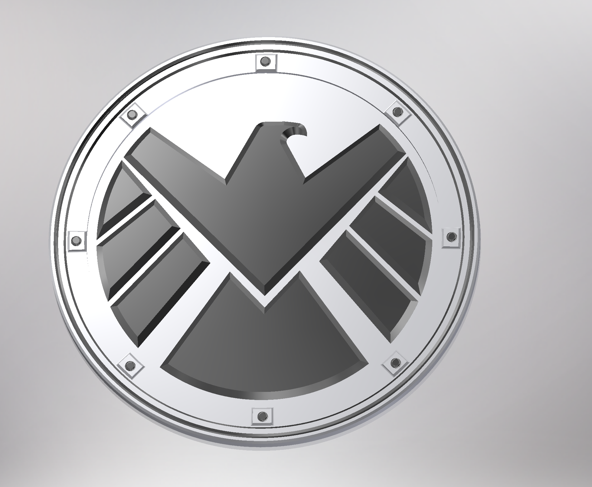 Marvels Agents Of Shield Logo Badge By Mrsnowie Thingiverse