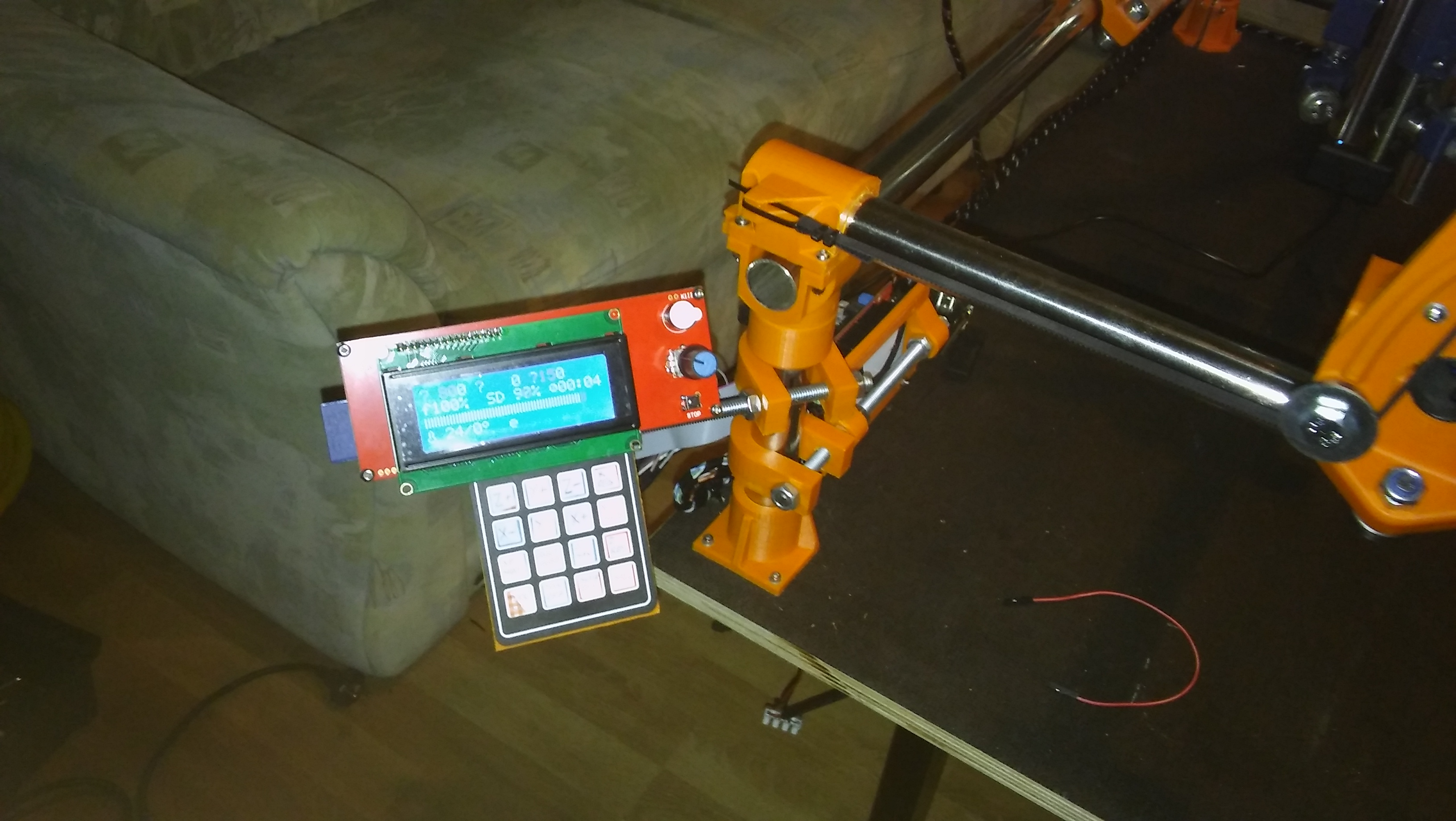 MPCNC - Keypad + IE holder for lcd and ramps by Slavulj - Thingiverse