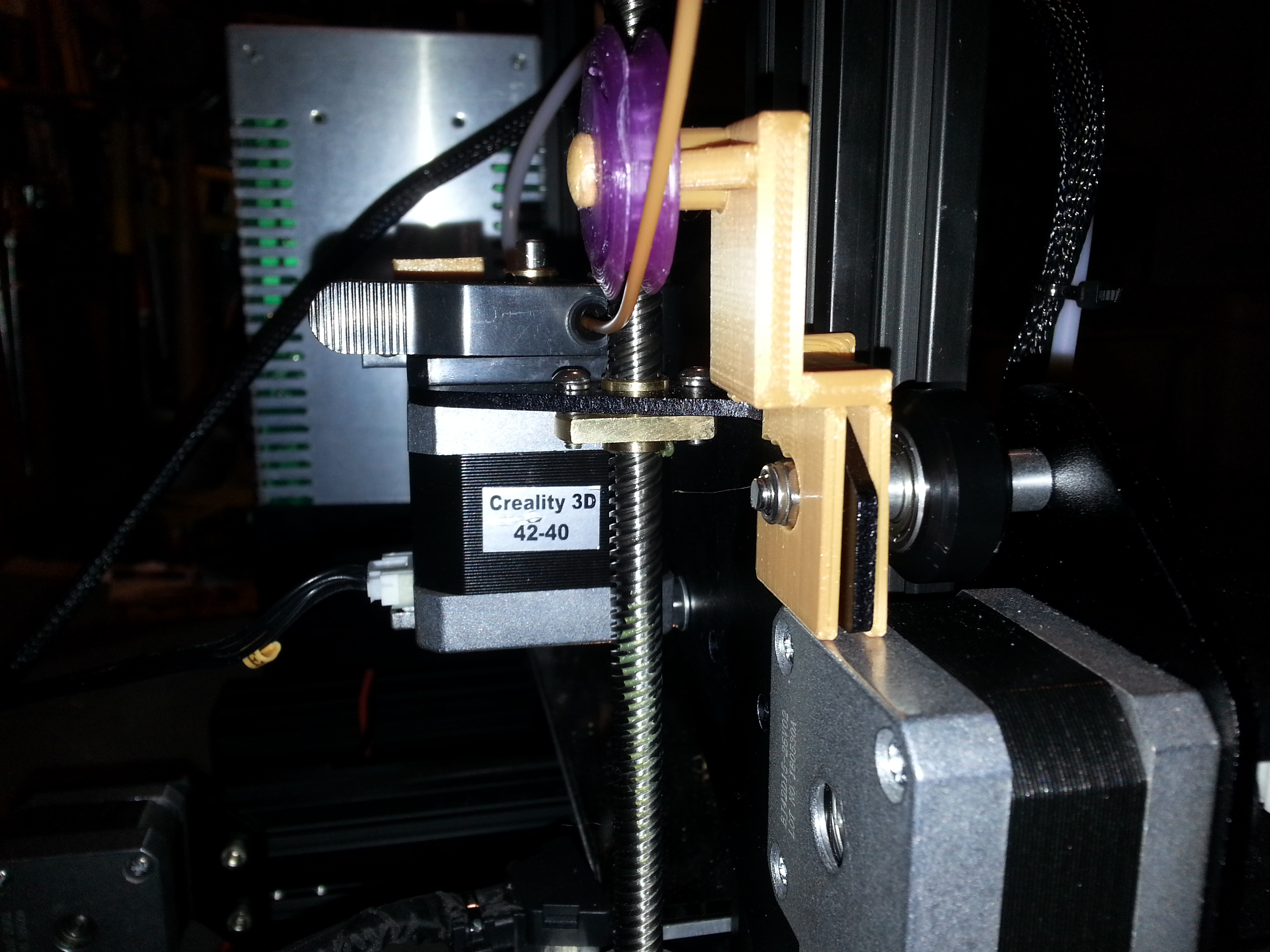 Snap on Ender 3 Stock Filament Guide V7 by theroar - Thingiverse