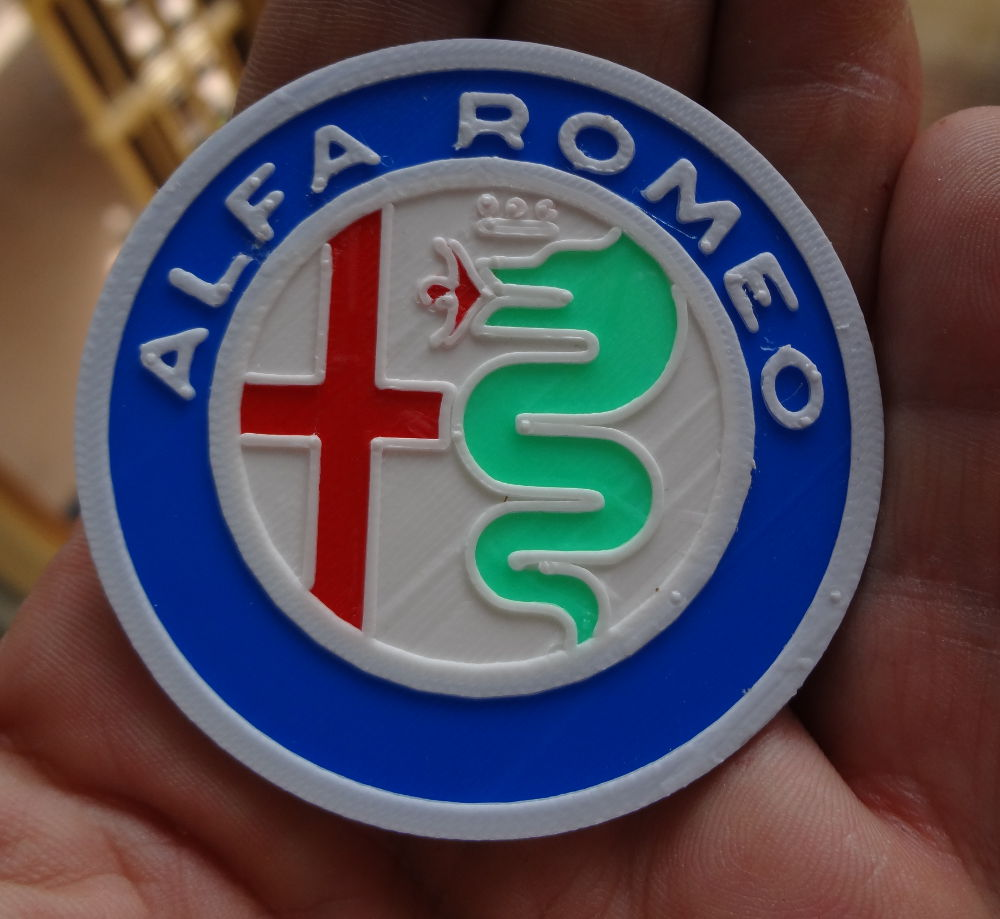 4 Colors Alfa Romeo Logo By Immaginaecrea Thingiverse Symbol Aug 17 2015 View Original