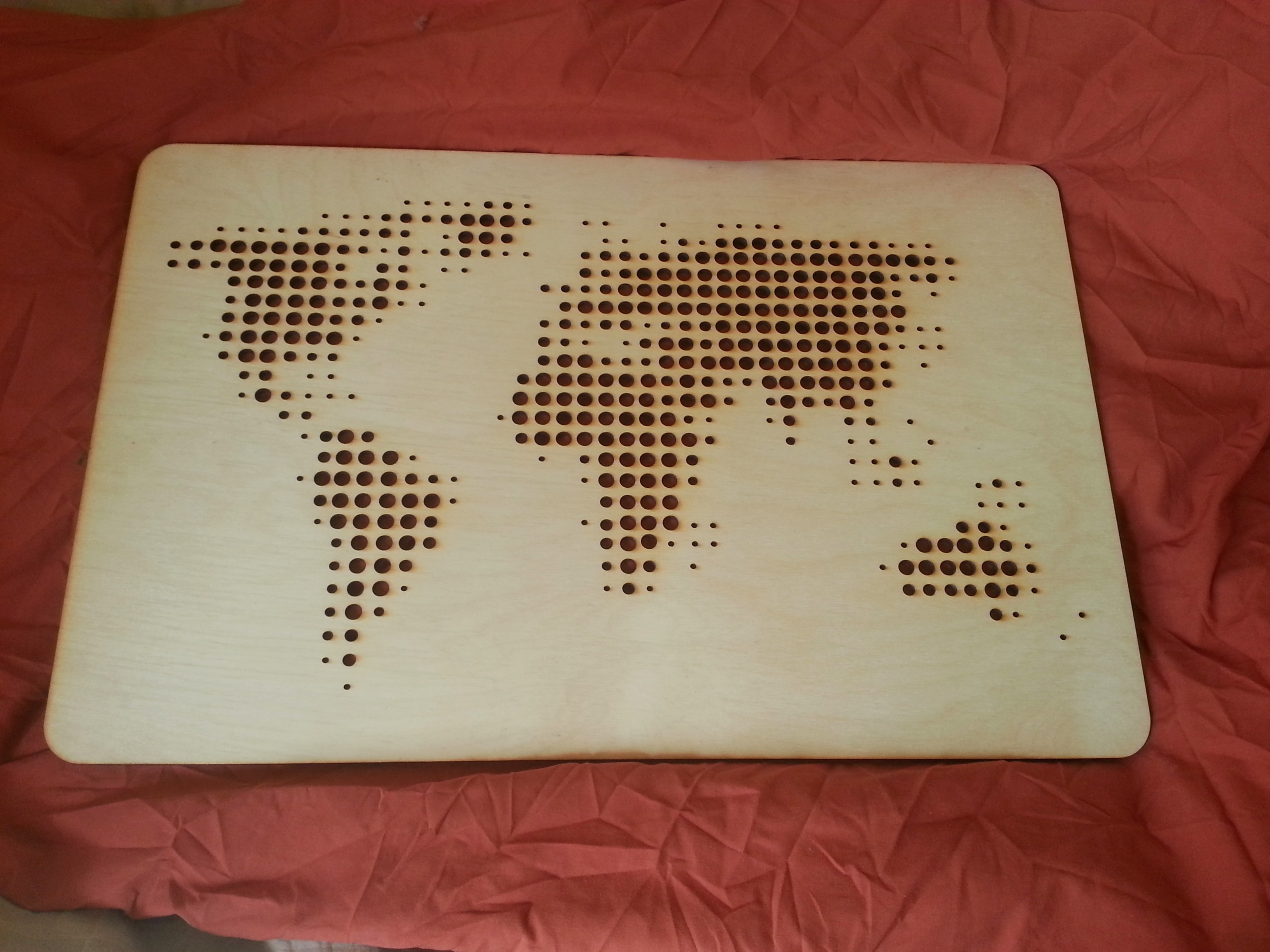 Laser Cut World Map.Lasercut World Map By Gregario Thingiverse