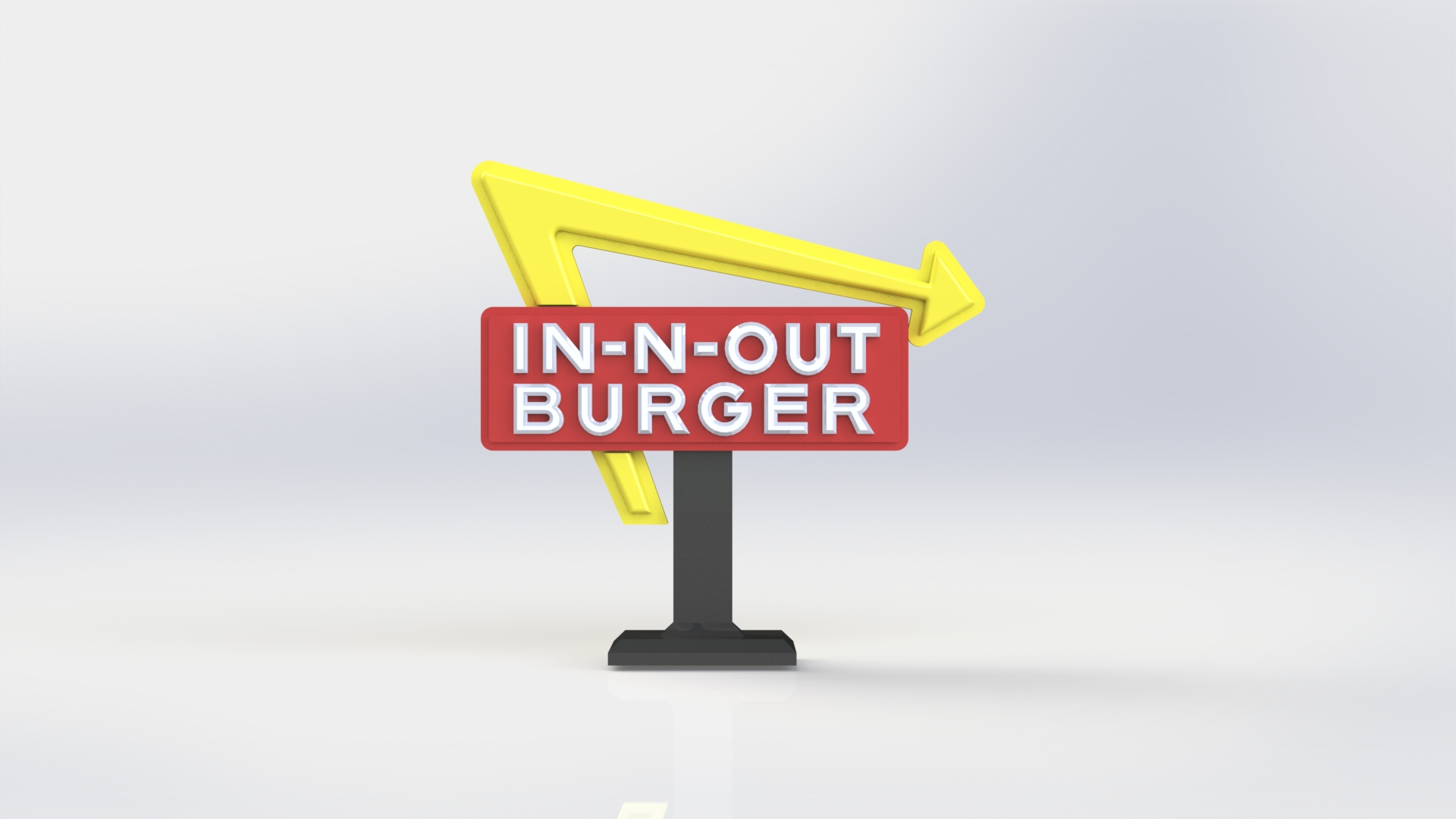In N Out Burger Sign by abapemilo - Thingiverse