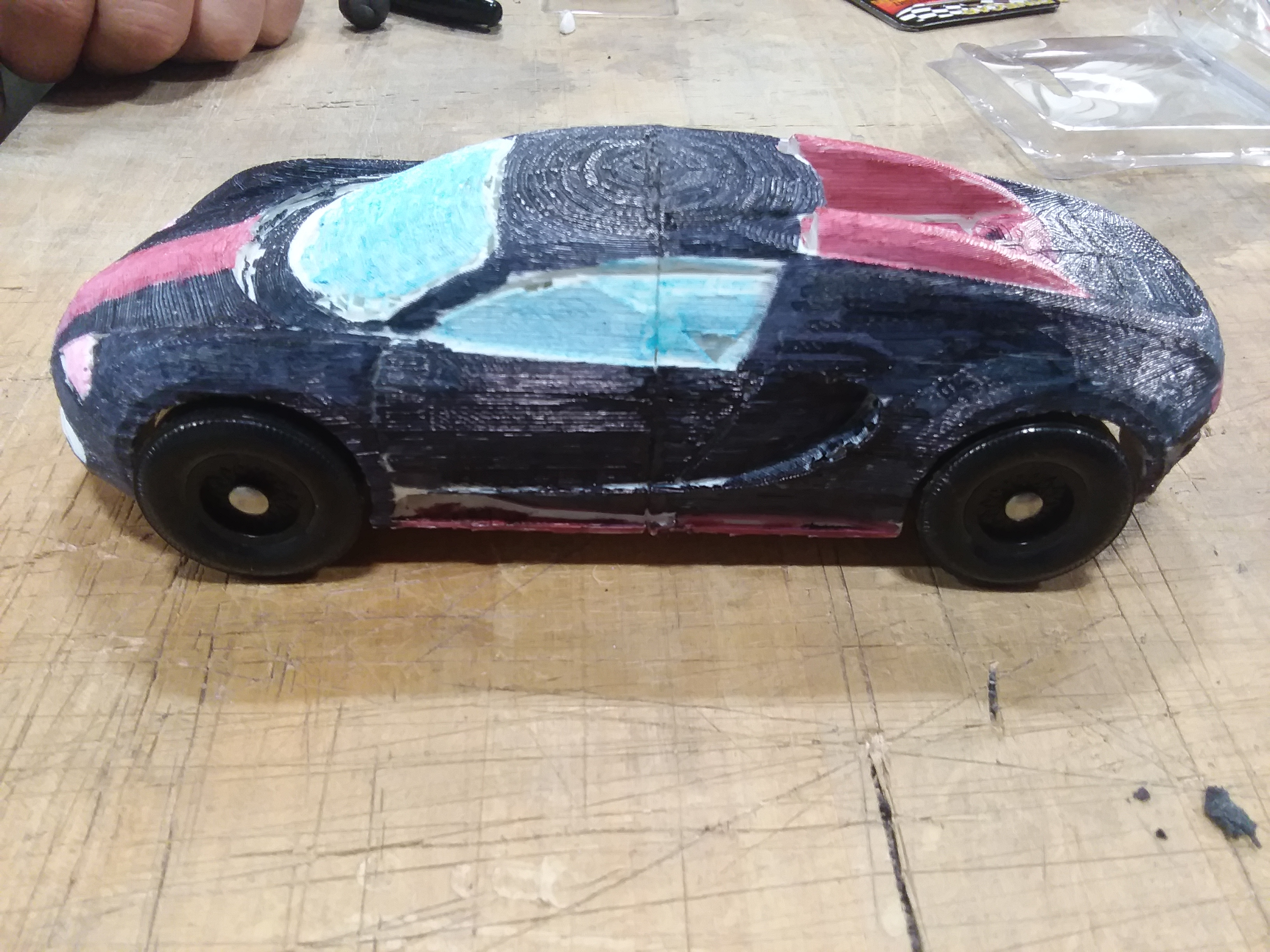 two part bugatti veyron pinewood derby by tunxis3dprinting thingiverse rh thingiverse com