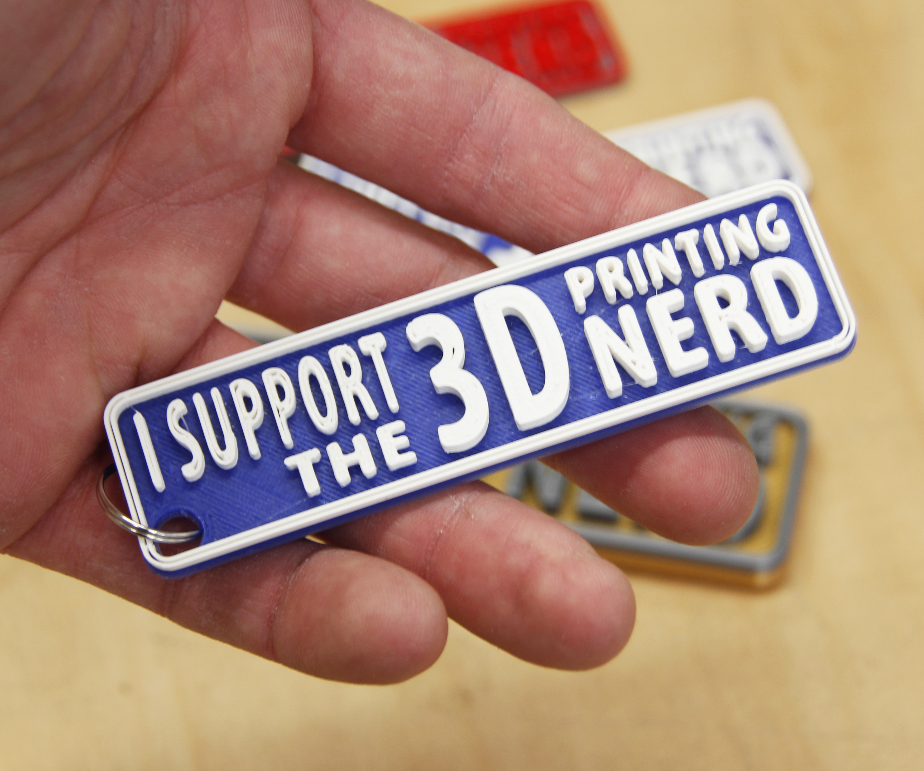 3d printing nerd keychain by gcreate thingiverse