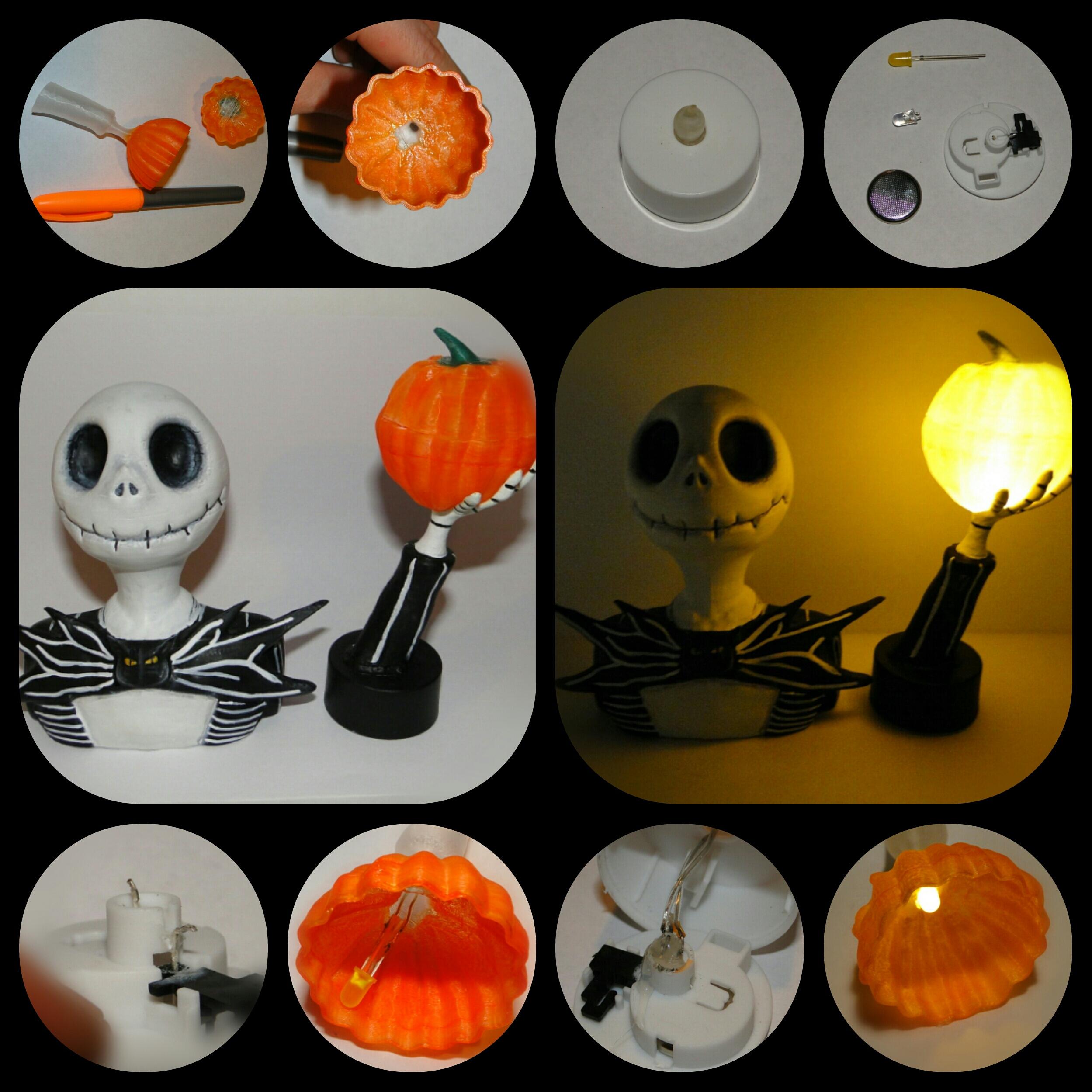 Nightmare before Christmas - Jack Skellington with Glowing Pumpkins ...