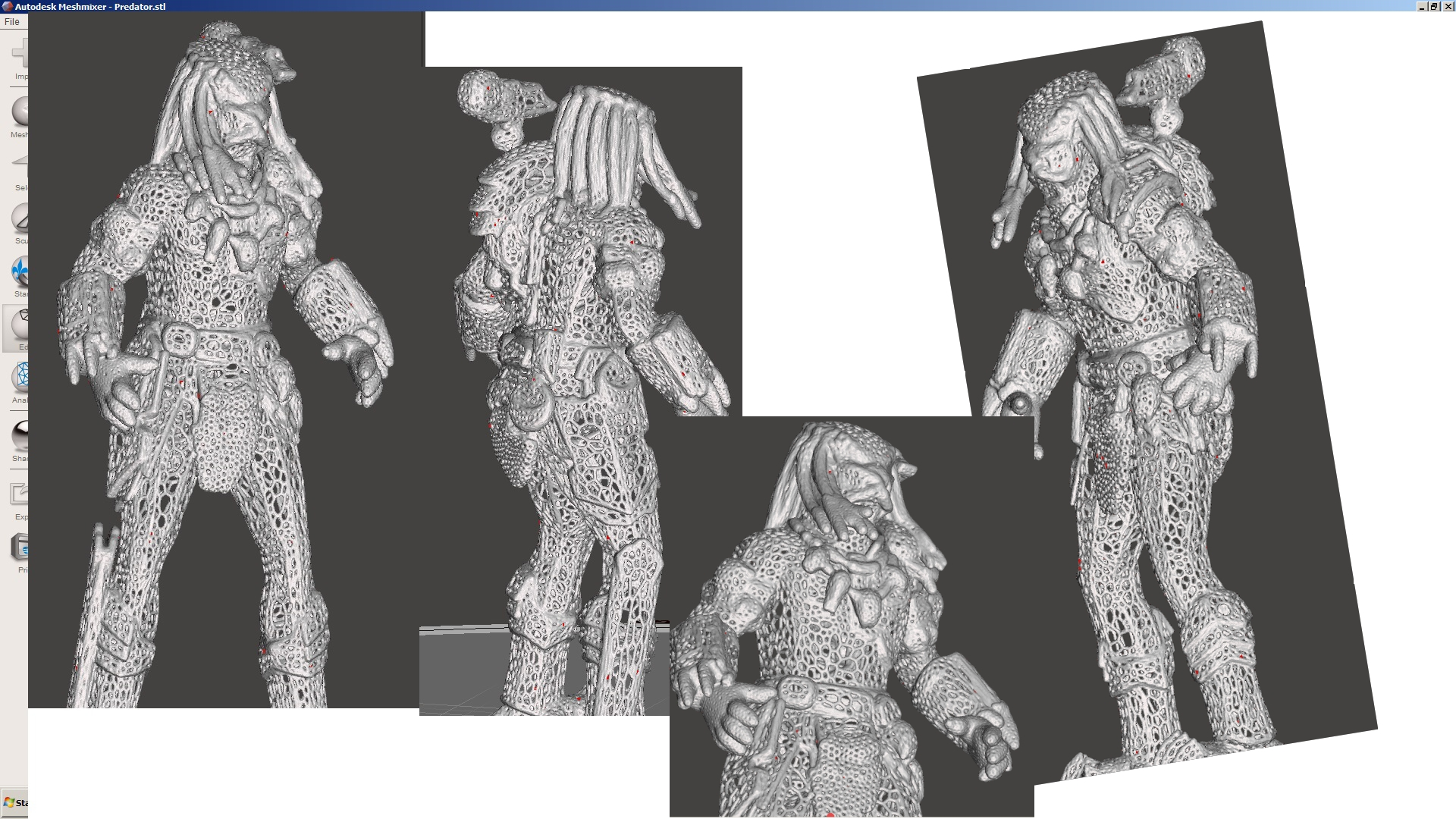 Predator HD voronoi by JiriStodulka - Thingiverse