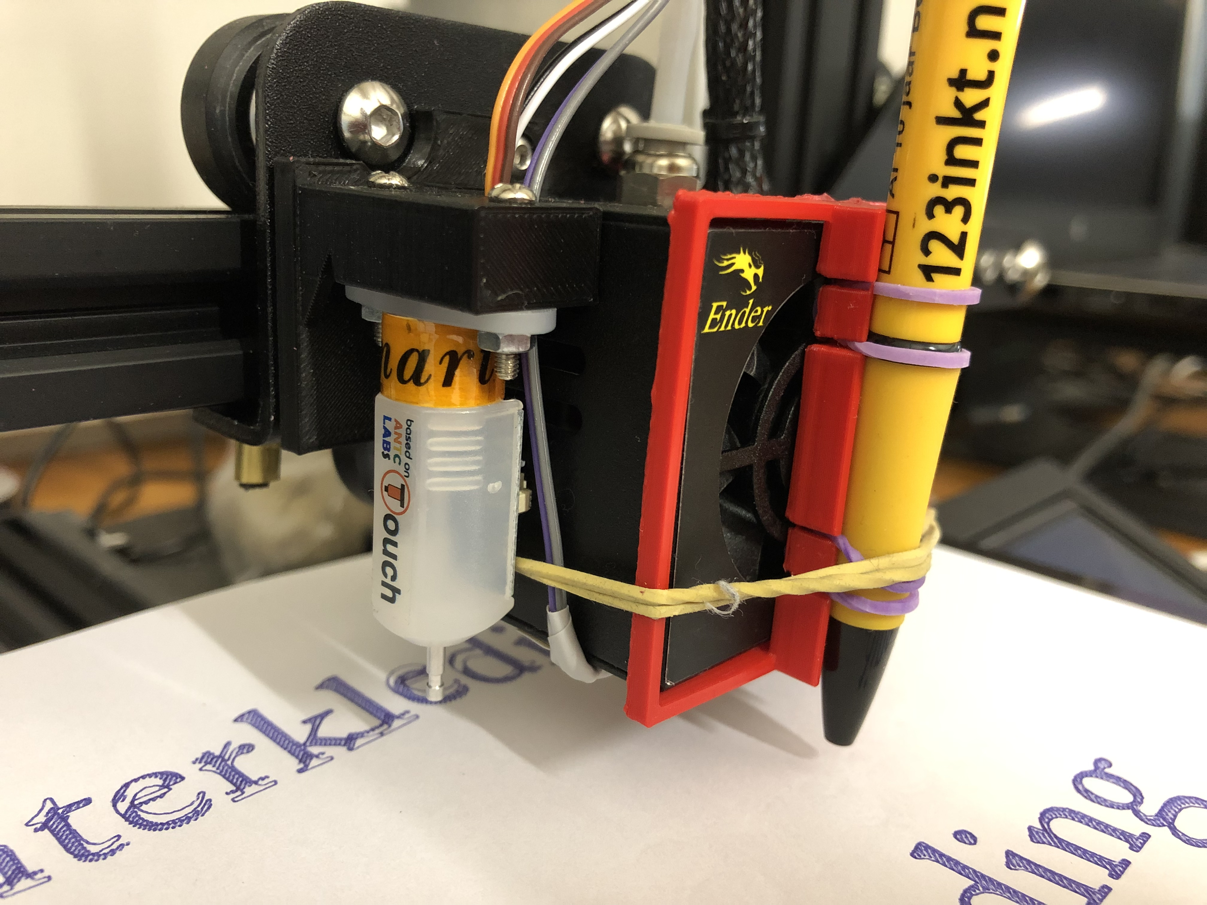 Creality Ender 3 pen mount by rbreen - Thingiverse