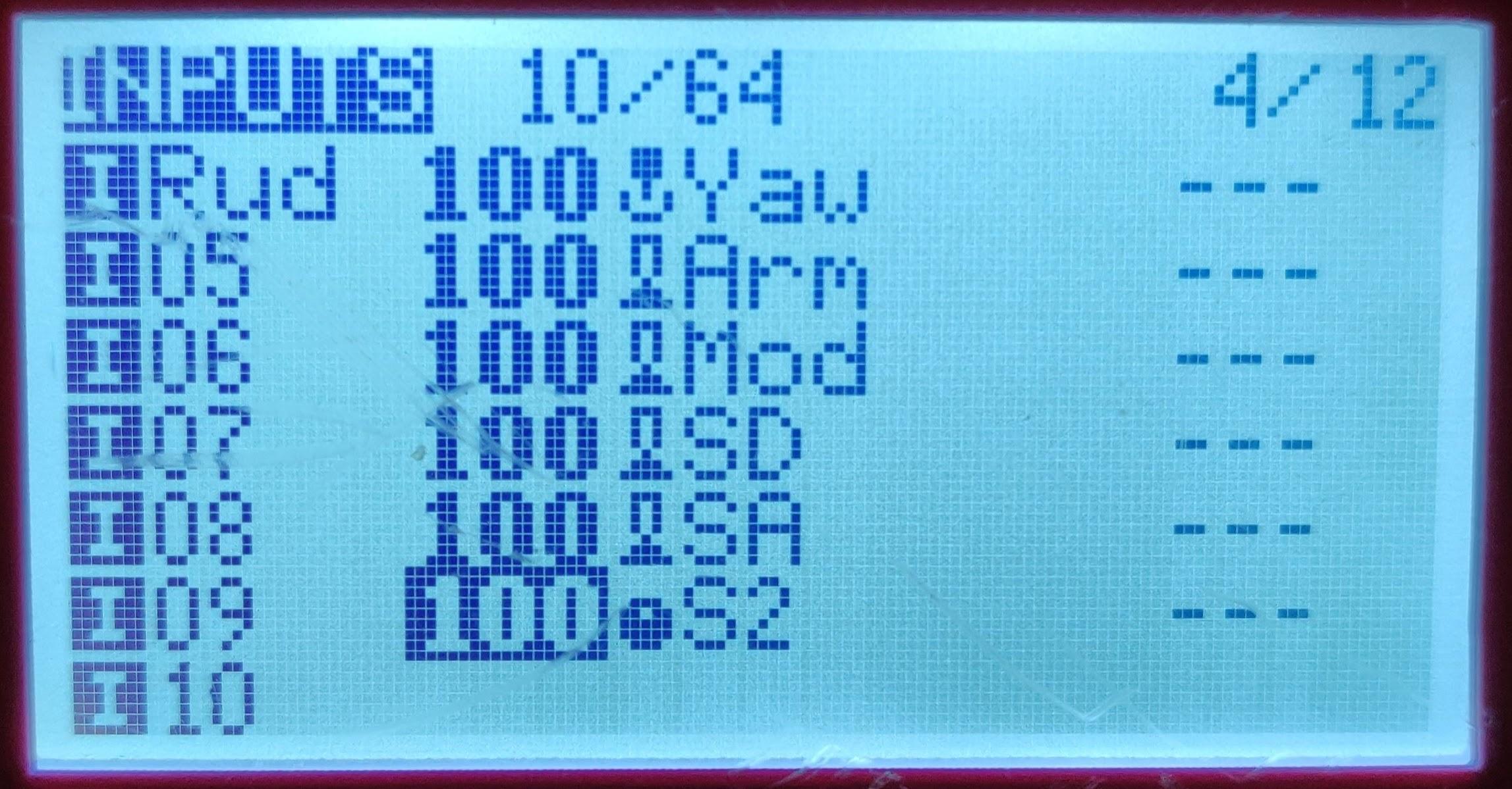 Inputs tab