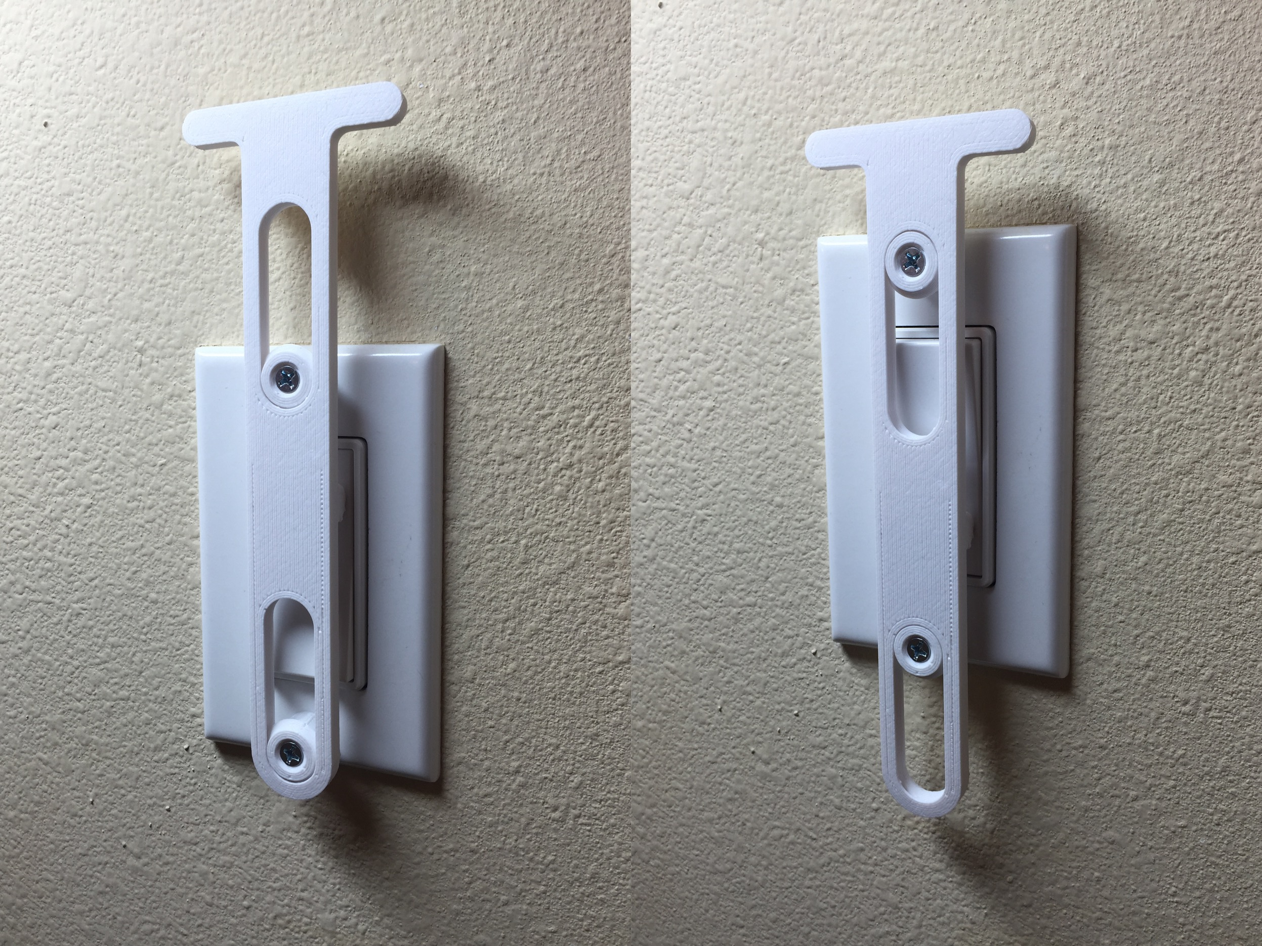 Decora light switch extension by danmar - Thingiverse