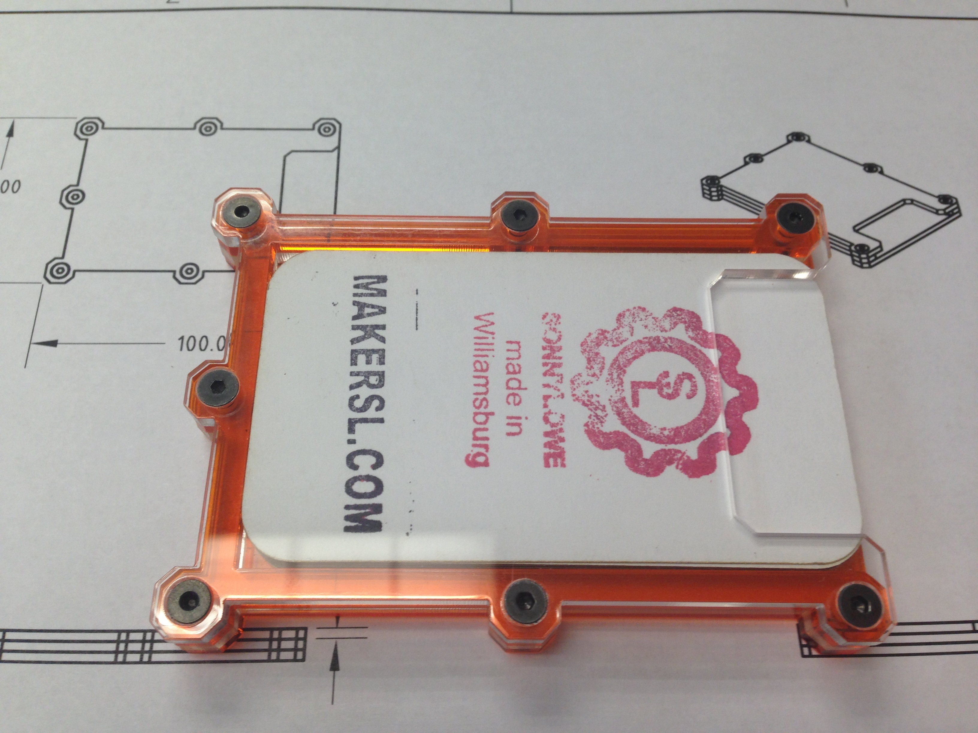 MakerSL Acrylic Laser Cut Or 3D Printed Business Card Holder By Sonnylowe Apr 21 2016 View Original