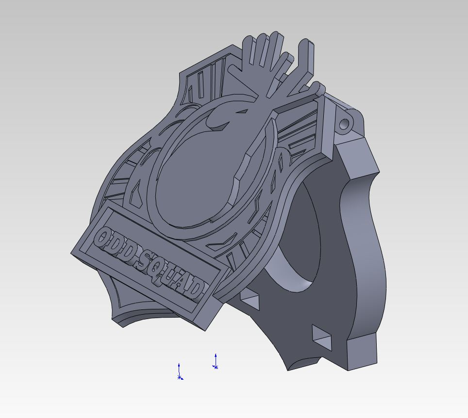 photo relating to Odd Squad Badge Printable titled Peculiar Squad cellular phone badge as a result of carlosap - Thingiverse