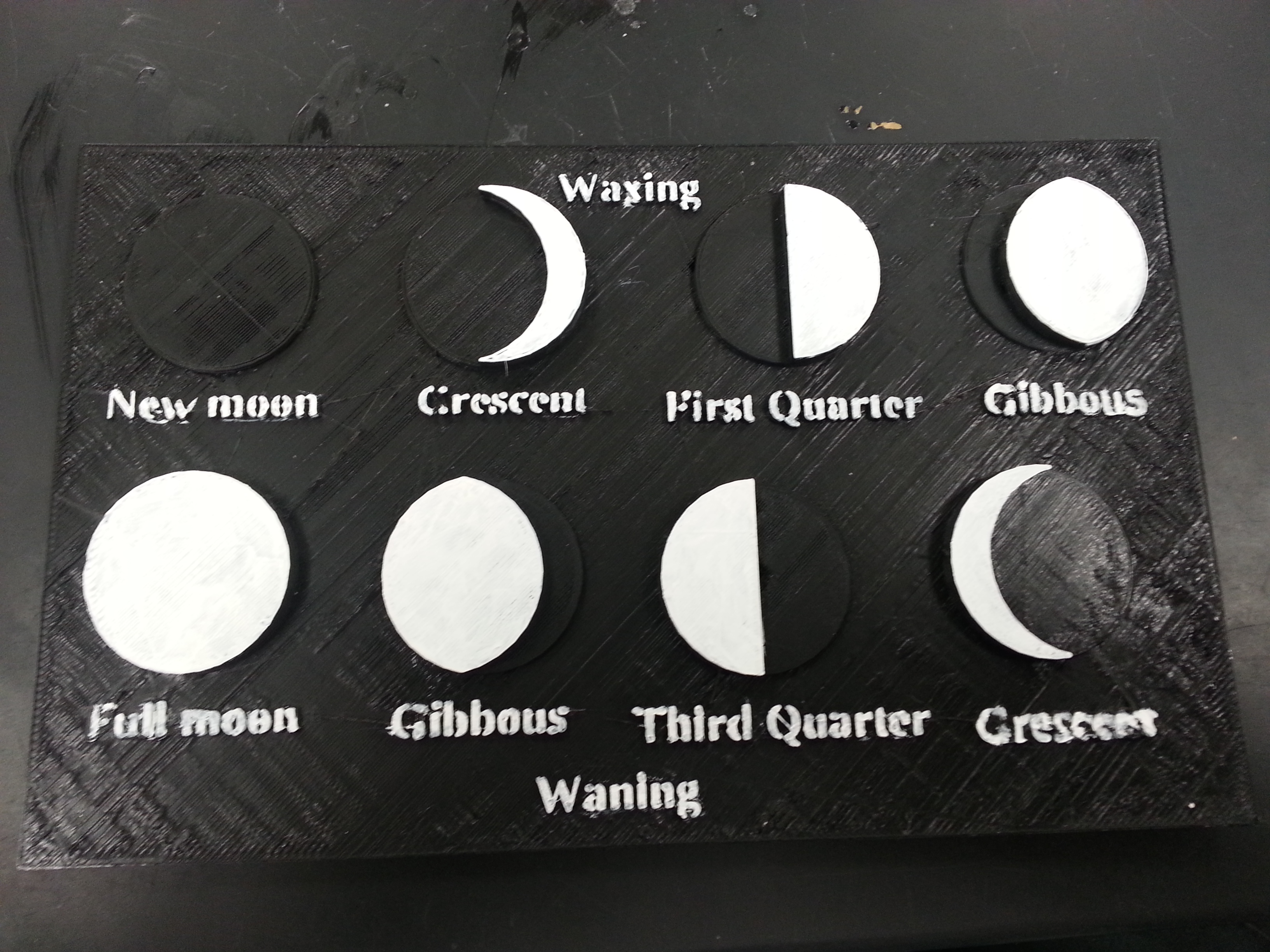 Moon Phases by mfritz - Thingiverse