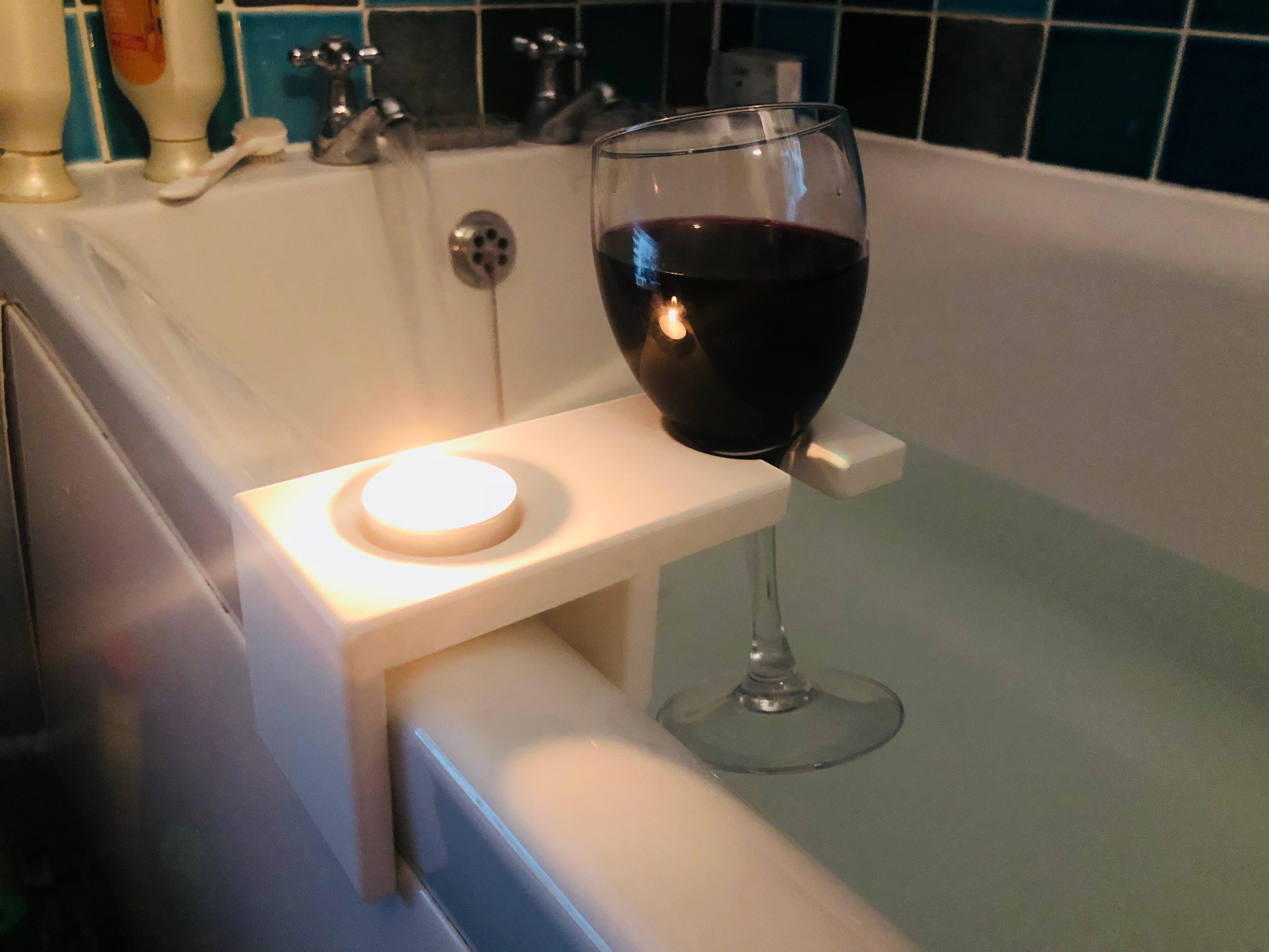 Bathtub Wine Holder by downmoney - Thingiverse