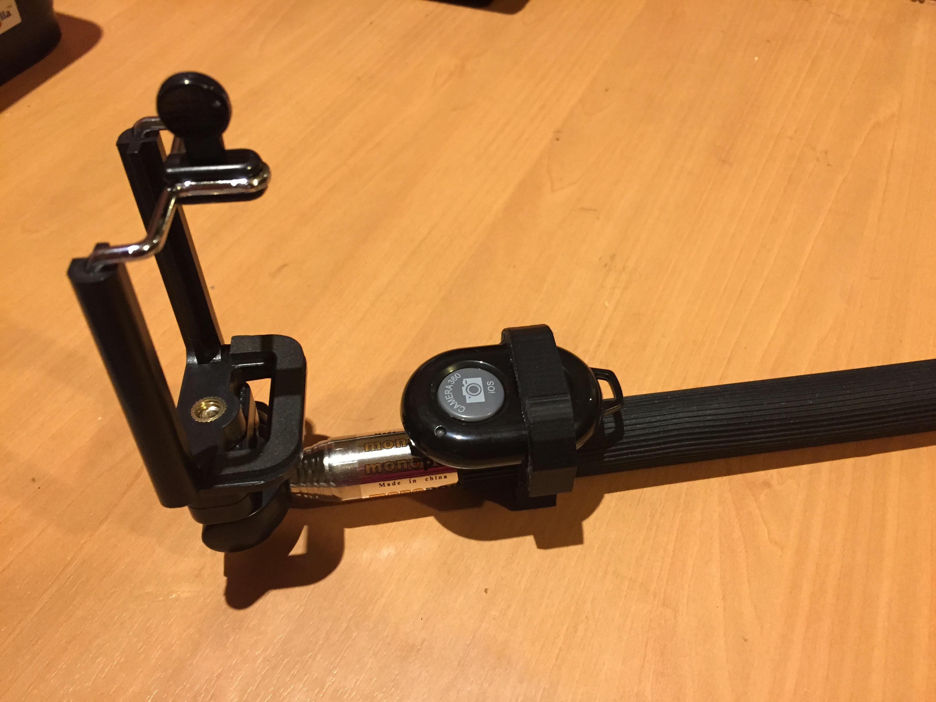Selfie Stick And Bluetooth Shutter Remote Holder By Tooraj