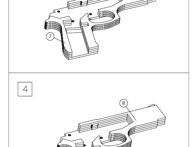 M9 Rubber Band Gun