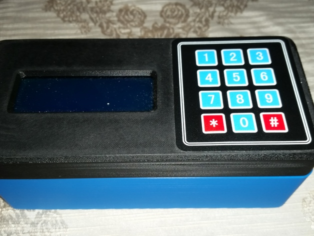 Arduino prototype case with lcd display and keypad by