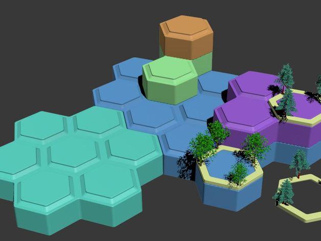 Modular 3D hex terrain-system project: Open WarHex