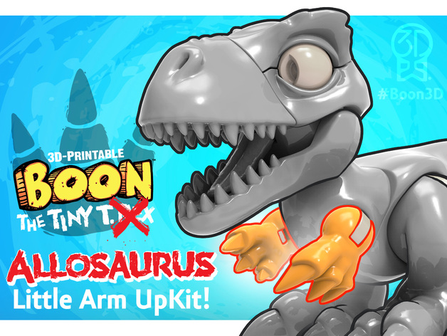 Boon the Tiny T. Rex: Allosaurus UpKit (Arms ONLY) - 3DKitbash.com