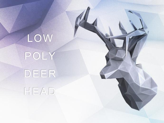 deer gray low poly - photo #18