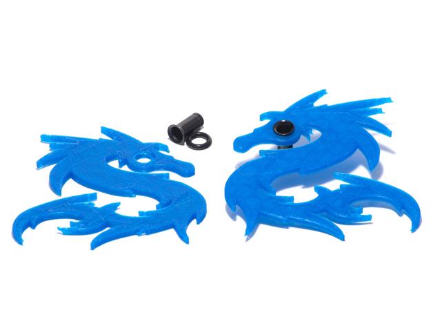 Spiky Serpent Charm For 4g Single Flare Metal Plugs or Hook Earrings