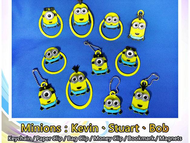 Minions Keychain / Paper Clip / Bag Clip / Money Clip / Bookmark / Magnets