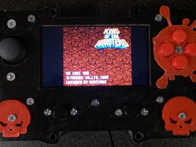 Portaberry Pi Frankenstein/Zombie remix plus flat face case unit mod
