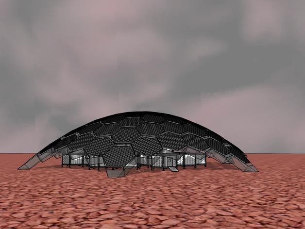 Mars Solar Hive By Raiou Thingiverse