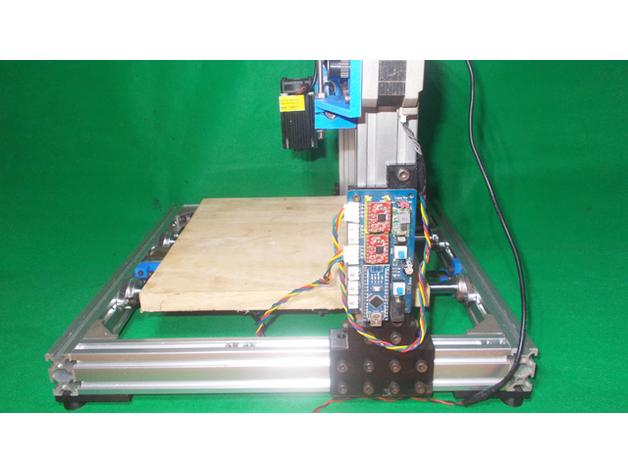 Homemade laser draw mill plotter d printer diy arduino