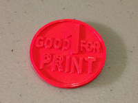 Good for 1 print - coin