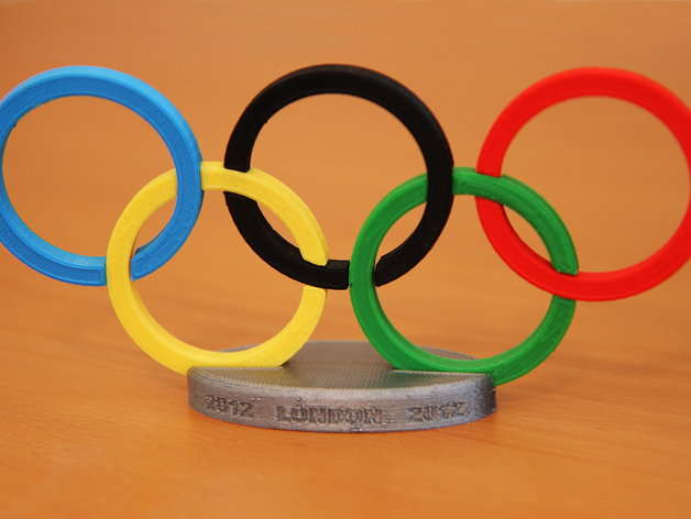 3D printed Olympic Rings with Stand