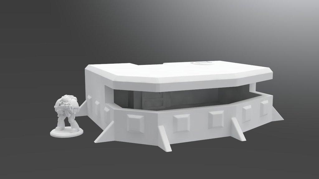 Gro�er Bunker - Warhammer - Tabletop - 28mm