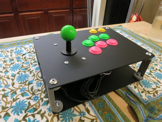 Raspberry Pi Arcade Stick Console By Nocarrier Thingiverse